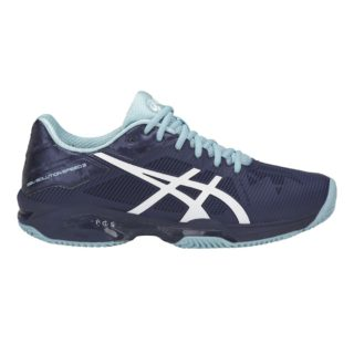 Asics Gel-Solution Speed 3 Clay indigo blue white porcelainblue - Racketshop de Bataaf