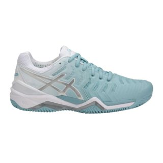 Asics Gel-Resolution 7 Clay porcelain blue silver white - Racketshop de Bataaf