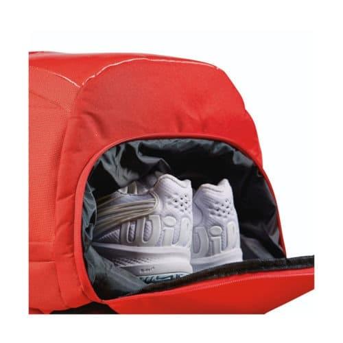 Wilson Super Tour Backpack Red detail - Racketshop de Bataaf