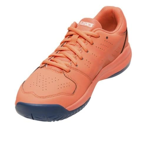 Asics Gel-Game 7 GS papaya zilver front - Racketshop de Bataaf