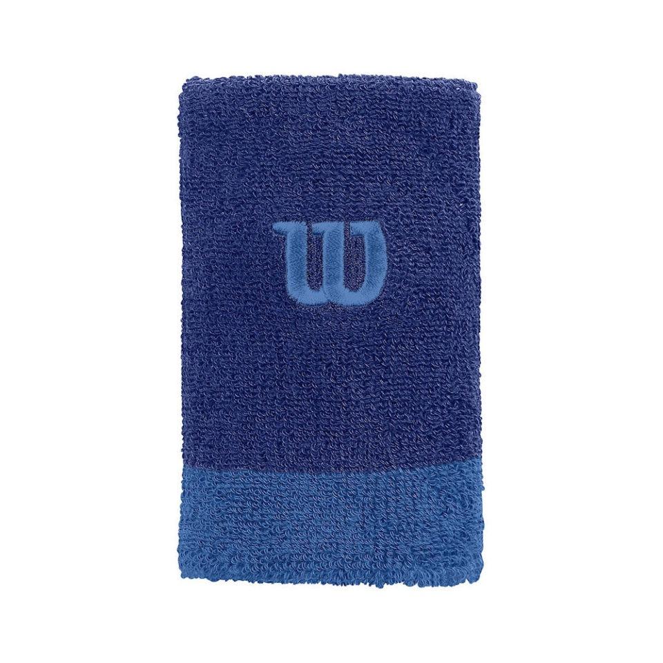 Wilson Extra Wide Wristband Blue - Racketshop de Bataaf