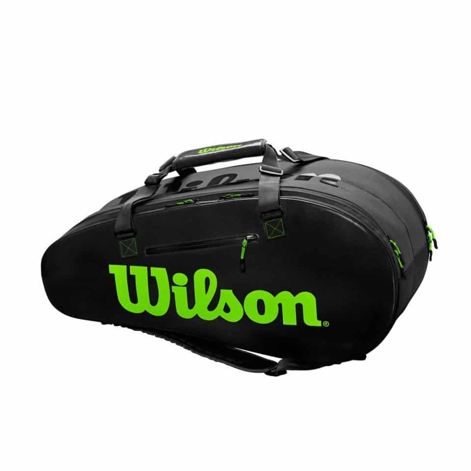 Wilson Super Tour 2 Comp Large BK/GR - Racketshop de Bataaf