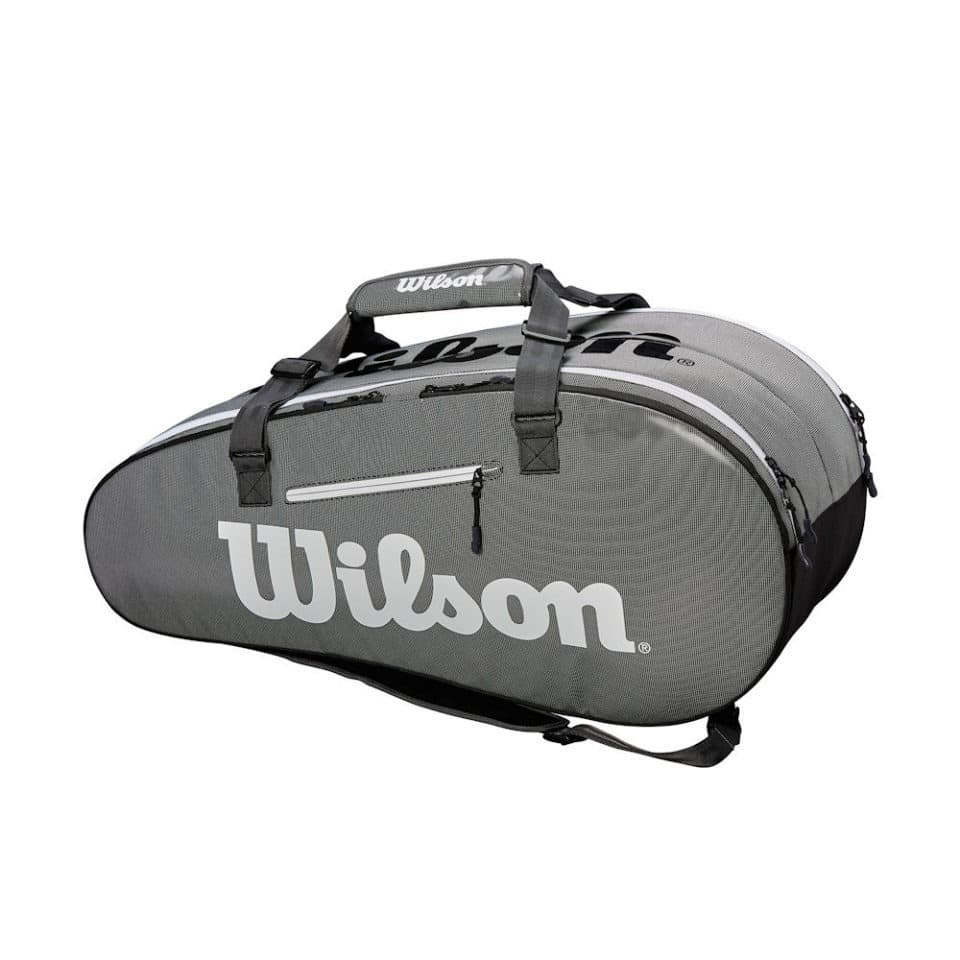 Wilson Super Tour 2 Comp Large Black/Grey - Racketshop de Bataaf
