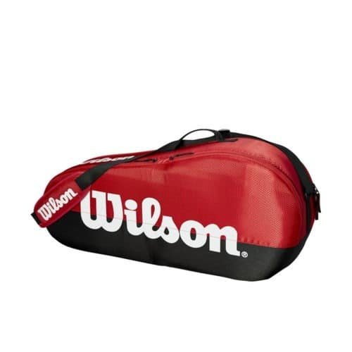 Wilson Team 1 Comp Black/Red - Racketshop de Bataaf
