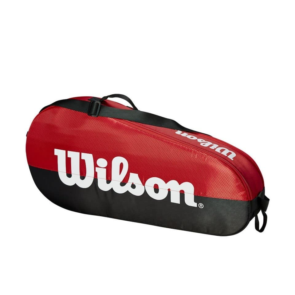 Wilson Team 1 Comp Black/Red - Racketshop de Bataaf
