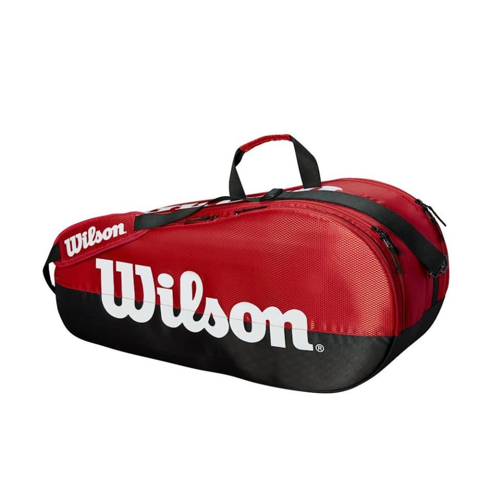 Wilson Team 2 Comp Black/Red - Racketshop de Bataaf